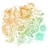 Piękny Paisley tło royalty ilustracja
