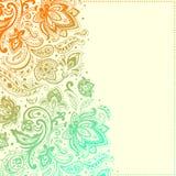 Piękny Paisley tło ilustracji