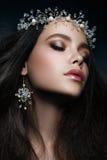 piękny panny młodej mody fryzury ślub zdjęcie royalty free