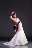 piękny panny młodej sukni ślub Obraz Royalty Free