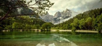 Piękny panoramiczny krajobraz, Slovenia fotografia royalty free
