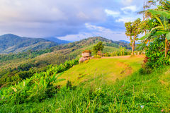 Piękny panoramiczny widok górski od wzgórza Duży Buddha w Ph Obrazy Stock