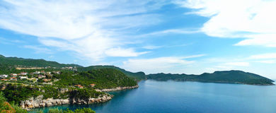 Piękny panoramiczny widok mały Śródziemnomorski grodzki Kash K zdjęcia royalty free
