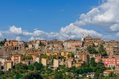 Piękny panoramiczny widok miasto Orte w Umbria, Włochy zdjęcie royalty free