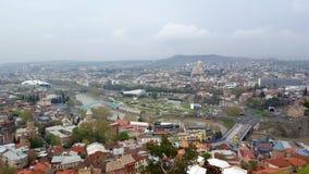 Piękny panoramiczny widok Tbilisi, Gruzja zdjęcia stock