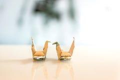 Piękny papierowy ptak fotografia stock
