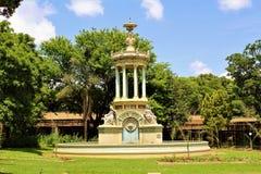 Piękny park i ornamentacyjny gazebo przy zoo Pretoria, Południowa Afryka Fotografia Stock
