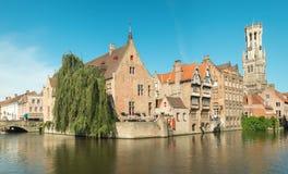 Piękny pejzaż miejski Brugge obrazy royalty free
