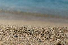 Piękny piasek przy Kleopatra plażą w Alanya Turcja Obraz Stock