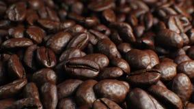 Piękny Piec Kawowych fasoli Turntable Bezszwowy obracanie W górę zwolnionego tempa CG tła Zapętlający abstrakt 3d zbiory