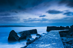 Piękny plaża krajobraz fotografia royalty free