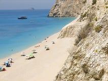 Piękny plażowy Egremni w Lefkada Grecja Obraz Royalty Free