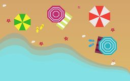 Piękny plażowy odgórny widok Zdjęcie Royalty Free