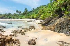 Piękny plażowy scenary w Ameryka Południowa tropikalnym terenie Obrazy Royalty Free