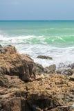 Piękny plażowy scenary w Ameryka Południowa tropikalnym terenie Obrazy Stock
