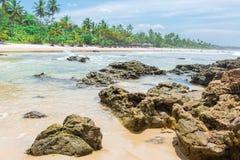 Piękny plażowy scenary w Ameryka Południowa tropikalnym terenie Obraz Stock