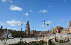 Piękny Plac De Espana w Seville obraz stock