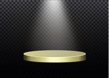 Piękny podium na ciemnym tle z inskrypcją podium zwycięzcy z jaskrawymi światłami Światło _ wektor Obrazy Stock