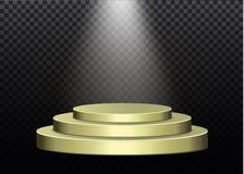 Piękny podium na ciemnym tle z inskrypcją podium zwycięzcy z jaskrawymi światłami Światło _ wektor Zdjęcie Stock