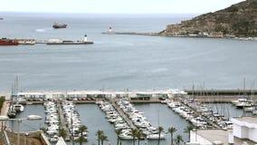 Piękny port morski w Alicante, Costa Blanca Hiszpania zbiory wideo