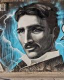 Piękny portret Nikola Tesla zdjęcia stock