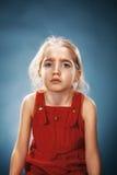 Piękny portret rozważna mała dziewczynka Obraz Stock
