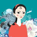 Piękny portret wschodnia dziewczyna Obraz Stock