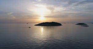 Piękny powietrzny wideo Adriatycki morze w Dalmatia, Chorwacja zbiory