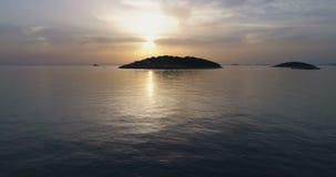 Piękny powietrzny wideo Adriatycki morze w Dalmatia, Chorwacja zbiory wideo