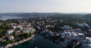 Piękny powietrzny wideo Dalmatia, Chorwacja, Europa zdjęcie wideo