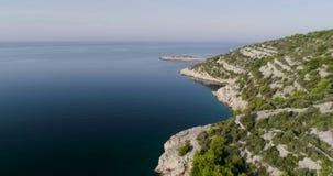 Piękny powietrzny wideo Dalmatia, Chorwacja, Europa zbiory wideo