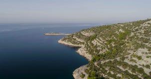Piękny powietrzny wideo Dalmatia, Chorwacja, Europa zbiory