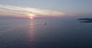 Piękny powietrzny wideo wieczór w Dalmatia, Chorwacja, Europa zdjęcie wideo