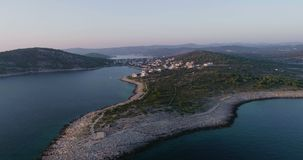 Piękny powietrzny wideo zmierzch w Dalmatia, Chorwacja, Europa zdjęcie wideo