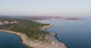 Piękny powietrzny wideo zmierzch w Dalmatia, Chorwacja, Europa zbiory