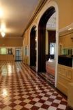 Piękny prętowy teren z oryginalnymi płytek podłoga, historyczna sala balowa, Canfield kasyno, Saratoga, NY, 2016 Zdjęcia Royalty Free