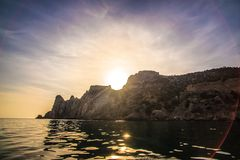Piękny przylądek na morzu obraz royalty free
