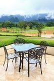 piękny pusty restauraci stołu widok Zdjęcie Royalty Free