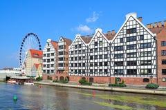 Piękny quay w Gdańskim Obrazy Royalty Free