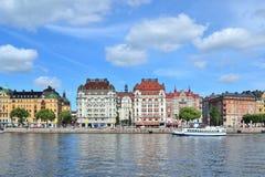 Piękny quay w Sztokholm Zdjęcia Royalty Free