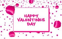 Piękny różany złocisty kartka z pozdrowieniami szczególnie dla valentines dnia i nowych ślub par zdjęcie stock