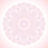 Piękny różowy ornamentacyjny tło wektor Fotografia Stock