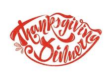 Piękny ręcznie pisany teksta dziękczynienia gość restauracji na textured b royalty ilustracja
