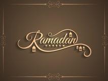 Piękny Ramadan Kareem teksta projekta tło Obrazy Stock