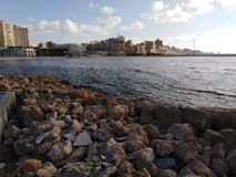 Piękny ranek morze śródziemnomorskie obraz stock