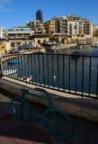 Piękny ranek przy Spinola zatoką, St Julian, Malta Fotografia Royalty Free