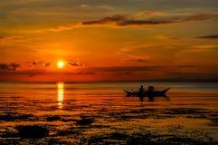 Piękny ranek z cudownym wschodem słońca fotografia stock