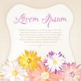 Piękny, rocznik stylowy polki kropek tło z miejscem dla kwiatów w miękkich kolorach, royalty ilustracja