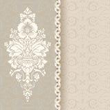 Piękny rocznika tło z bezszwowym wzorem Zdjęcia Royalty Free