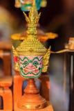 Piękny rodzimy Tajlandzki gigantyczny khon maski use w królewskim występie, Fotografia Royalty Free